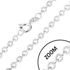 Lănțișor realizat din argint 925 cu elemente de legătură atașate perpendicular, grosime 1,2 mm, lungime 460 mm
