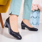 Pantofi cu toc mic dama negri Biledia