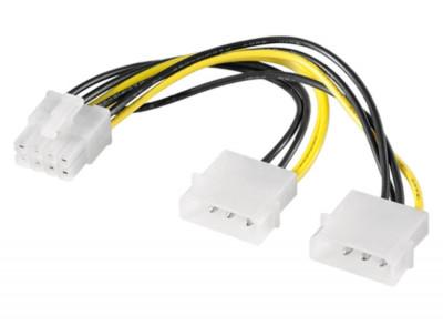 Cablu adaptor alimentare placa video pci-e 8 pini de la molex, molex la pcie 8pini foto