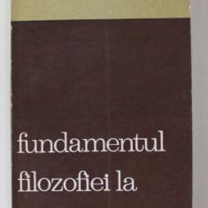 FUNDAMENTUL FILOZOFIEI LA MIRCEA FLORIAN de GH. AL. CAZAN , 1971