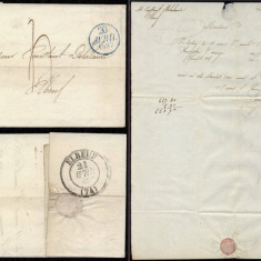 France 1837 Postal History Rare Stampless Cover + Content Paris to Elbeuf DB.091