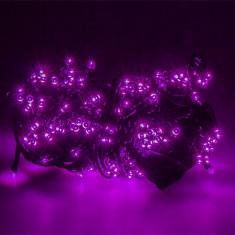 Instalatie Craciun pentru brad, lungime 16m, 200 becuri, Violet