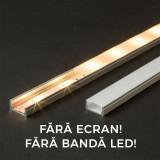 Profil U din aluminiu pt. benzi LED 2000x17x8mm