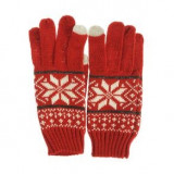 Manusi rosii, print traditional iarna - Manusi rosii, print traditional iarna