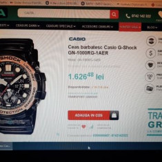 Ceas barbatesc Casio G-Shock GN-1000RG-1AER, garantie, Mecanic-Automatic