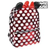 Ghiozdan Minnie Mouse Paiete Roșu Negru