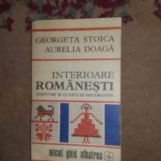 Interioare romanesti / tesaturi si cusaturi decorative - Georgeta Stoica
