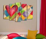 Set 5 tablouri Heart