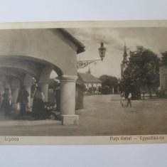 Carte postala circulata 1928 Lipova/Piata Unirii 1925
