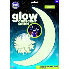 Semiluna fosforescenta The Original Glowstars Company, Alb