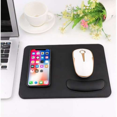 Incarcator Wireless Google Pixel 3 Tip Mouse Pad 2-in 1 Negru foto