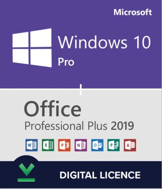PACHET Licenta Windows 10 Pro / Office 2019 Pro Plus