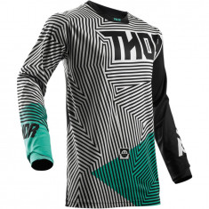Tricou motocross Thor Pulse Geotec marime 2XL negru/Turcoaz Cod Produs: MX_NEW 29104377PE