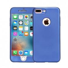 Husa 360 Grade Silicon iPhone 7 Plus Albastru