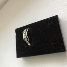 Inel aur 14K cu 5 diamante vintage cadou