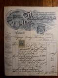 DOCUMENT VECHI ORADEA 1908 - VEISZLOVITS ES FIA - OVARY SANDOR - RARITATE