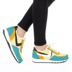 Pantofi sport dama Bony galbeni