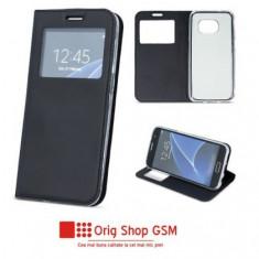 Husa Flip Carte Smart Look Samsung G965 Galaxy S9 Plus Negru