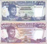 Bancnota Swaziland 10 si 20 Emalangeni 2006 - P30c/31c UNC ( set x2 )