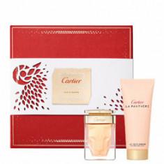 Set cadou Cartier La Panthere (Apa de parfum 50 ml + Lotiune de corp 100 ml), pentru femei