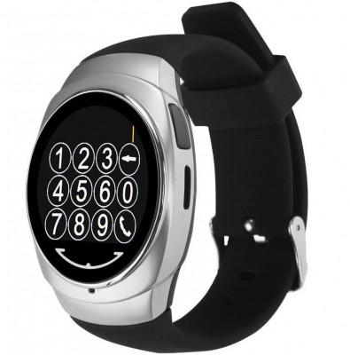 Resigilat! Ceas Smartwatch iUni Classic O100, BT, LCD 1.3 Inch, Silver foto