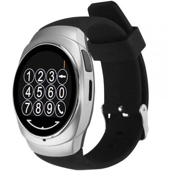 Resigilat! Ceas Smartwatch iUni Classic O100, BT, LCD 1.3 Inch, Silver