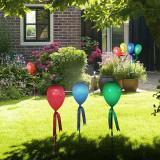 Balon solar decorativ, LED, incarcare solara, inaltime 65 cm, fixare in pamant IP44