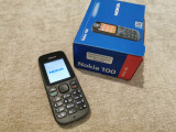 NOKIA 100 - telefon CA NOU - simplu clasic de vorbit cu taste in limba romana, Gri, Vodafone