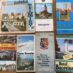Ghiduri de calatorie turistice vechi harti Romania Timisoara Brasov Constanta