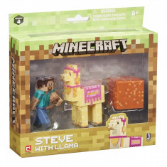 Set Figurina Minecraft - Steve with lama figure