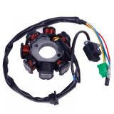 Magnetou Stator Aprindere Scuter Chinezesc Gy6 4T 125cc 150cc 8 Bobine 5 FIRE
