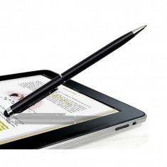 Touch Pen Stylus 2 in 1 Capacitiv Pentru Smartphone Tablet Cu Functie Pix Universal - Negru