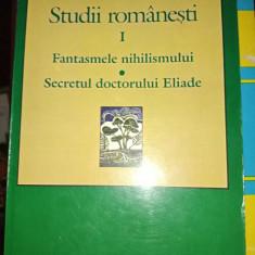 STUDII ROMANESTI  VOL  I-  IOAN PETRU CULIANU,  NEMIRA 2000,398 pag