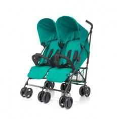 Carucior pentru gemeni 4Baby TWINS Turquoise