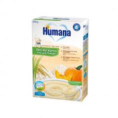 Cereale fara lapte Humana Orez cu dovleac, 200 g, 6 luni+