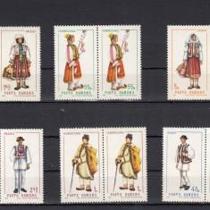 ROMANIA 1968  LP 690 COSTUME NATIONALE  I   PERECHE  SERII  MNH