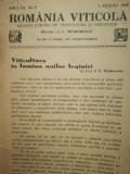 Romania viticola, 1939, revista lunara de viticultura si oenologiee