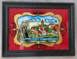 Tablou vechi pictură pe sticlă