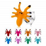 Cumpara ieftin Cercei din argint 925, păianjen colorat cu opt picioare, cu şurub - Culoare: Roz deschis
