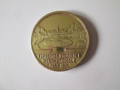 Rara! Medalie Expozitia Coloniala Internationala Paris 1931:America foto