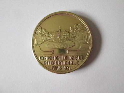 Rara! Medalie Expozitia Coloniala Internationala Paris 1931:America