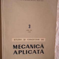 Studii Si Cercetari De Mecanica Aplicata Vol.3 Anul Xiv 1963 - Colectiv ,270524