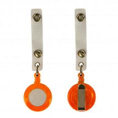 Clip cu fir retractabil portocaliu