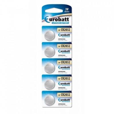 Set 5 buc, Baterii lithium 3v CR2032, Eurobatt, DL2032, 5004LC, E-CR2032 foto
