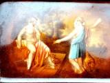 ROYAL VIENNA ALT WIEN - CEHOSLOVACIA PORTELAN PICTAT PERIOADA MEISSEN SCRUMIERA