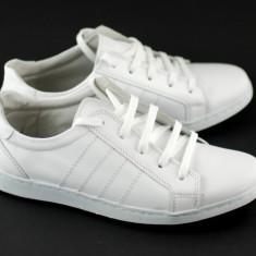 Pantofi barbati sport - casual alb din piele naturala - ADTIMALB