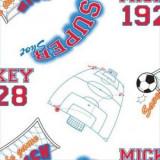 Tapet camera copii Rola 10 X 0,52 m Mickey Footbal