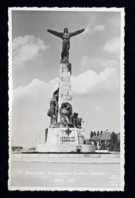 BUCURESTI , MONUMENTUL EROILOR AERULUI , CARTE POSTALA ILUSTRATA , MONOCROMA, NECIRCULATA , PERIOADA INTERBELICA foto