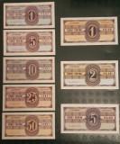 Set COMPLET bilete/tichete NAVROM (seria in dolari) - stare necirculata (UNC)