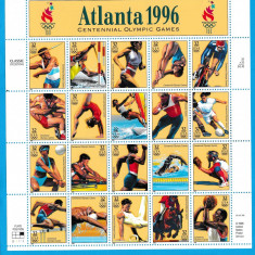 USA - Sport - JOCURILE OLIMPICE ATLANTA 1996-  Nestampilat